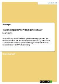 Cover Technologiebewertung innovativer Start-ups