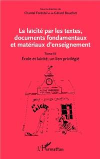 Cover La laicite par les textes, documents fondamentaux et materiaux d'enseignement 03
