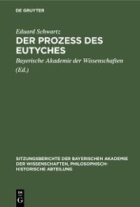 Cover Der Prozess des Eutyches