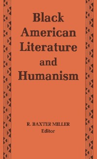 Cover Black American Literature and Humanism