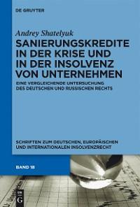Cover Sanierungskredite in der Krise und in der Insolvenz von Unternehmen