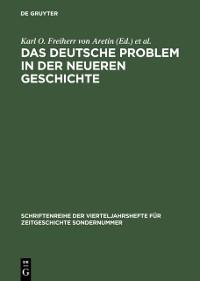 Cover Das deutsche Problem in der neueren Geschichte