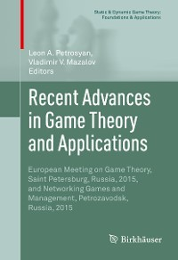 Cover Recent Advances in Game Theory and Applications