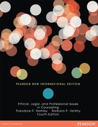 Cover Ethical, Legal, and Professional Issues in Counseling: Pearson New International Edition PDF eBook