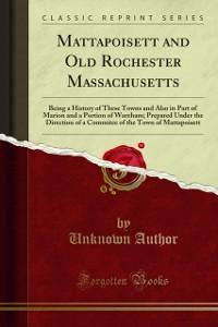 Cover Mattapoisett and Old Rochester Massachusetts