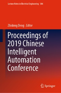 Cover Proceedings of 2019 Chinese Intelligent Automation Conference