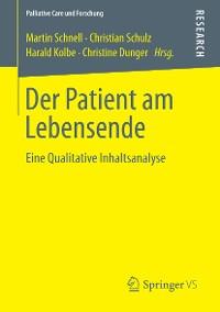 Cover Der Patient am Lebensende