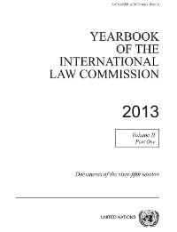 Cover Yearbook of the International Law Commission 2013, Vol. II, Part 1