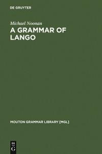 Cover A Grammar of Lango