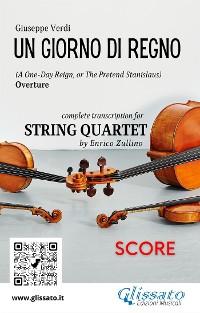 Cover Un giorno di regno (overture) String Quartet - Score