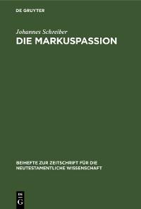 Cover Die Markuspassion