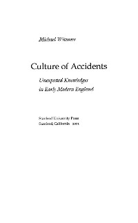 Cover Culture of Accidents