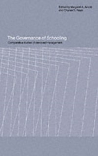 Cover Governance of Schooling