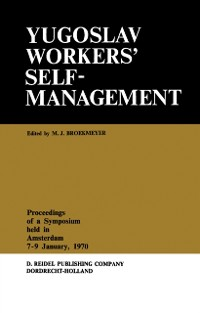 Cover Yugoslav Workers' Selfmanagement
