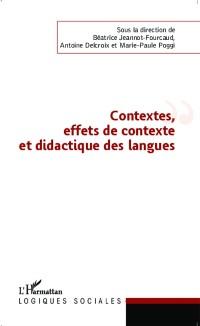 Cover Contextes, effets de contexte et didactique des langues
