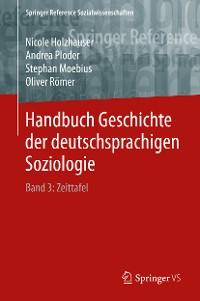 Cover Handbuch Geschichte der deutschsprachigen Soziologie