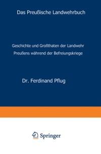 Cover Das Preuische Landwehrbuch