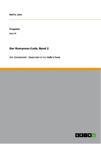 Cover Der Romanow-Code. Band 2