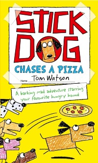 Cover Stick Dog Chases a Pizza