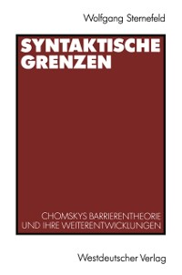 Cover Syntaktische Grenzen