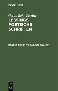 Cover Gedichte. Fabeln. Dramen