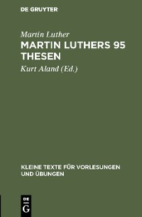 Cover Martin Luthers 95 Thesen