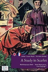 Cover Sherlock Holmes' a Study in Scarlet (English + French Interactive Version)