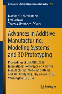 Cover Advances in Additive Manufacturing, Modeling Systems and 3D Prototyping