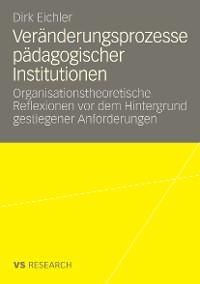 Cover Veränderungsprozesse pädagogischer Institutionen