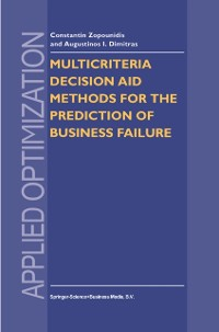 Cover Multicriteria Decision Aid Methods for the Prediction of Business Failure