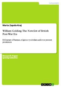 Cover William Golding. The Novelist of British Post-War Era