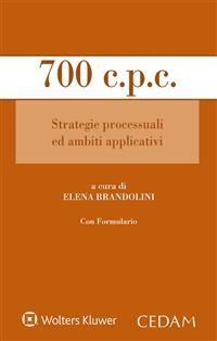 Cover 700 c.p.c. Strategie processuali ed ambiti applicativi