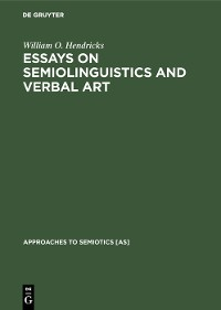 Cover Essays on Semiolinguistics and Verbal Art