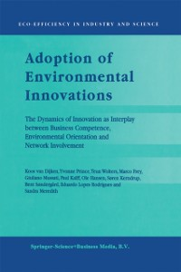 Cover Adoption of Environmental Innovations