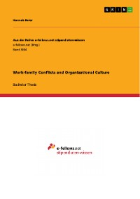 Cover Work-family Conflicts and Organizational Culture