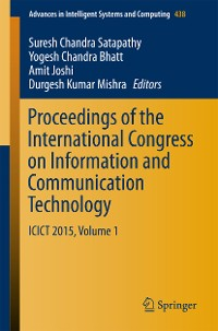 Cover Proceedings of the International Congress on Information and Communication Technology