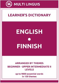 Cover English-Finnish (the Theme-Arranged Learner's Dictionary, Steps 1 - 6)