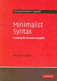 Cover Minimalist Syntax