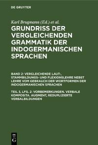 Cover Vorbemerkungen. Verbale Komposita. Augment, reduplizierte Verbalbildungen