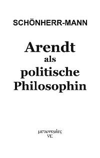 Cover Arendt als politische Philosophin
