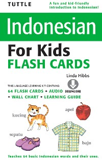 Cover Tuttle Indonesian for Kids Flash Cards