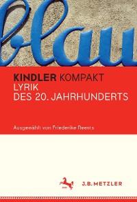 Cover Kindler Kompakt: Lyrik des 20. Jahrhunderts