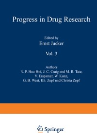 Cover Fortschritte der Arzneimittelforschung / Progress in Drug Research / Progres des Recherches Pharmaceutiques