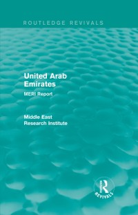 Cover United Arab Emirates (Routledge Revival)