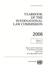 Cover Yearbook of the International Law Commission 2006, Vol. II, Part 2