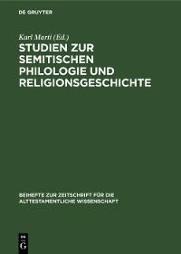 Cover Studien zur semitischen Philologie und Religionsgeschichte