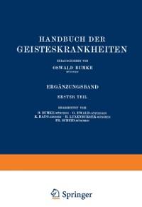 Cover Handbuch der Geisteskrankheiten