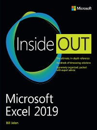 Cover Microsoft Excel 2019 Inside Out