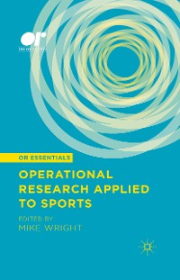 Cover Operational Research Applied to Sports