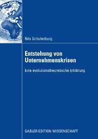 Cover Entstehung von Unternehmenskrisen